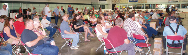 Well over a hundred people stayed for the live auction excitement during Friday's 17th annual Charity Auction in Killam, July 19.