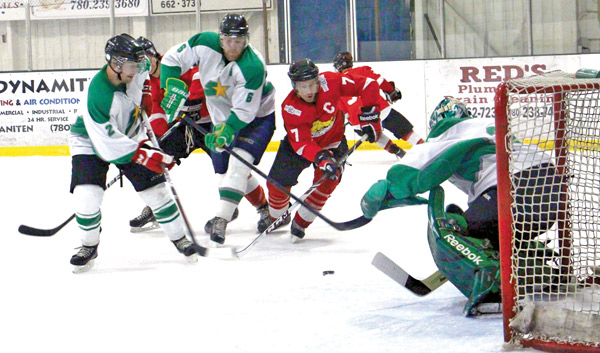Hardisty Captain Trevor Bromby has a good chance to score on Saturday, Feb. 22 in Tofield.
