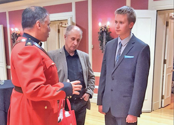 Colton Congdon received the silver Duke of Edinburgh's Award in a ceremony in Calgary on Nov. 13. The award was presented by the Lieutenant Governor.